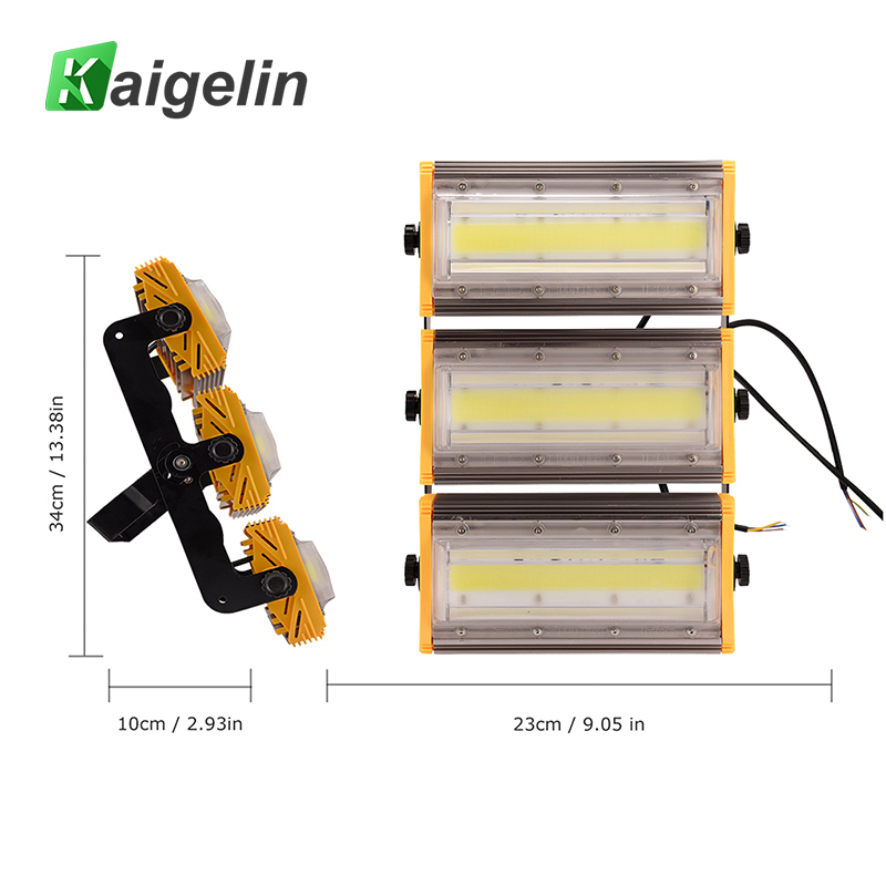 цены 4 PCS Kiagelin 150W COB LED Flood Light 12000LM IP65 Waterproof LED Floodlight Outdoor Lighting LED Spotlight Garden Wall Lamp