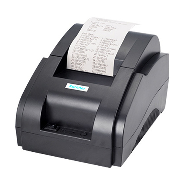 Xprinter POS 58 USB & USB + Bluetooth for Android and IOS 58mm Thermal Small Ticket Printer Bill Machine 1