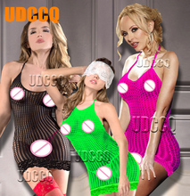 sexy lace Lady Mesh lingerie costumes underwear women sex product erotic backless porn babydoll crochet Cosplay 8904