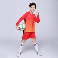 Boys And Girls Blank Football Jersey Training Suits DIY Customized Logos Sportswear Youth Kids Soccer Jerseys