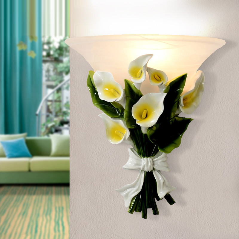 TUDA European Style Wall Lamp Bedside Living Room Modern Wall Lamps Balcony Pastoral Flowers Led Wall Lamp Indoor Lighting european style led wall lamp bedside lamp modern lighting creative wall lamp wall lamp fashion background lighting fixture