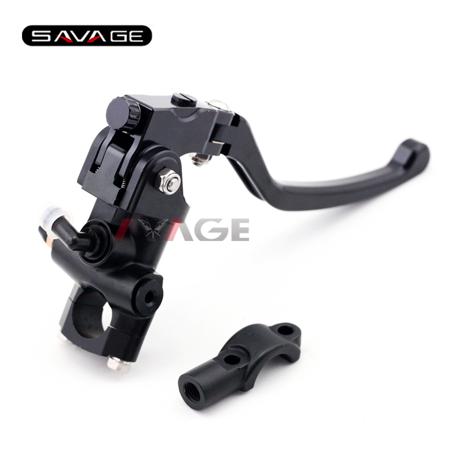Universal 7/8 22mm Motorcycle Clutch Master Cylinder Levers with Bar Clamp ct4 22mm energy monitoring sensor clamp