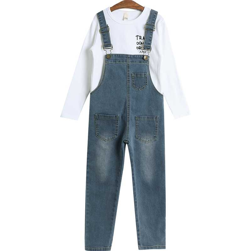 45e8d46d7 ... Spring Autumn 2019 Toddler Girls Denim Overalls For Girls Jumpsuits  Romper Trousers Kids Baby Cotton Dungarees ...