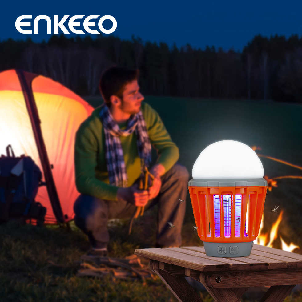 Enkeeo Draagbare Camping Licht Lamp Usb Opladen Led Muggen Killer Lamp Waterdicht Afweermiddel Pest Insect Mosquito Killer