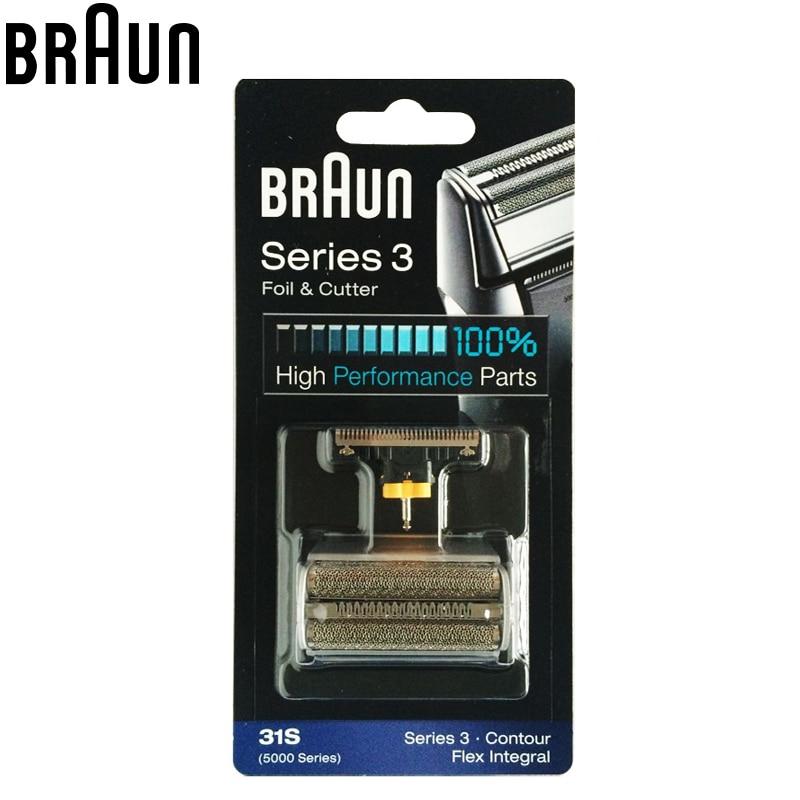 Braun 31S Electric Shavers Replacement Silver Contour Flex XP Integral Shaver razor blade parts( 5775 5875 5877 5895 6520 5000 ) new 1 x replacement shaver foil 31b for braun 360 380 390 5414 5610 5612 5877 5770 5775 free shipping