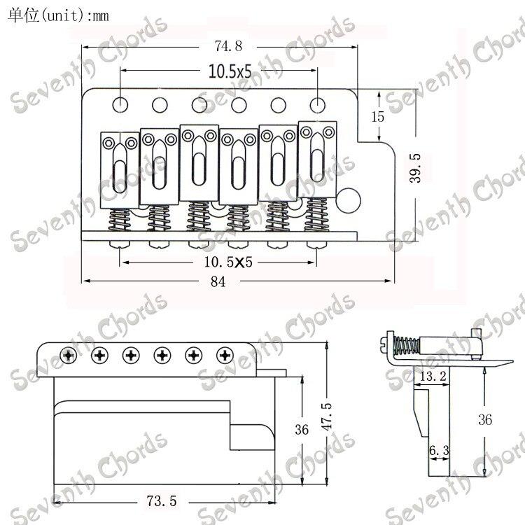 u3010red copper color sq st single shake vibrato system