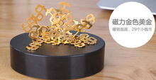 Magnetic Art dollar/ DIY Perpetual Motion Toy/ For  Science fun/2016 New/ Free shipping