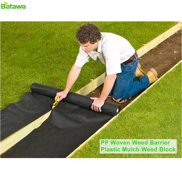 Landscape Ground Cover Heavy Pp Woven Weed Barrier Soil Erosion Control And Uv Ilized