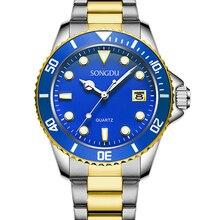 Мужские часы светящиеся кварцевые-часы класса люкс стали армия часы для мужчин военные часы relogios masculinos reloj де-лос-hombres
