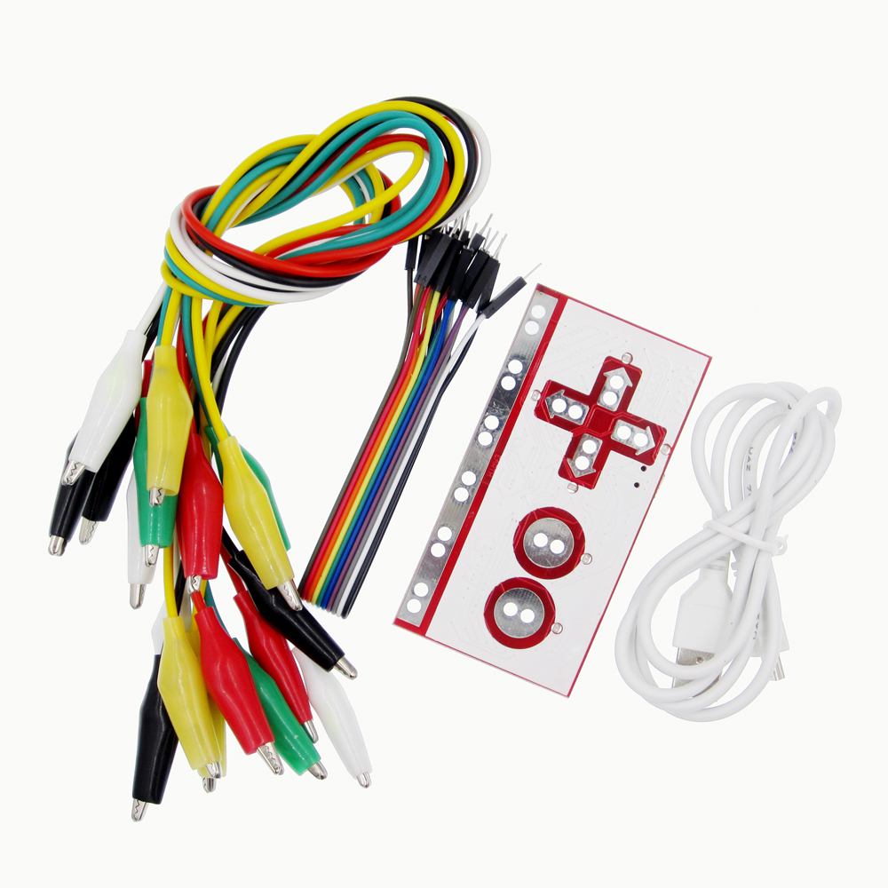 Alligator Clip Jumper Wire Standard Controller Board DIY Kit for Makey diy makey kit with usb cable alligator clips support connect everyday objects to computer keys for kids children