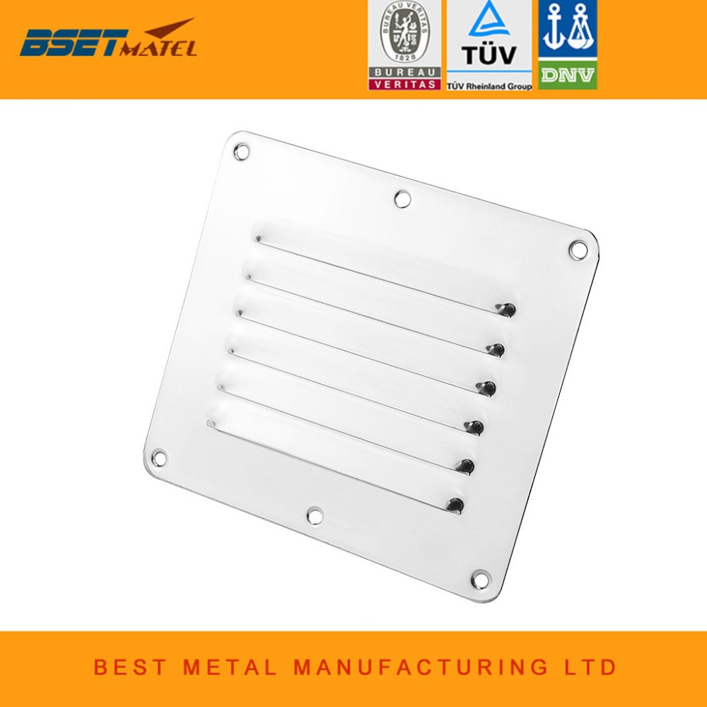 Marine Grade Stainless Steel 316 Boat Marine Square Air Vent Louver Vent Grille Ventilation Louvered Ventilator Grill Cover