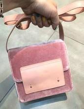 Autumn &winter new velvet solid color stitching shoulder bag, fashionable ladies sweet cute soft diagonal bag,women crossbag