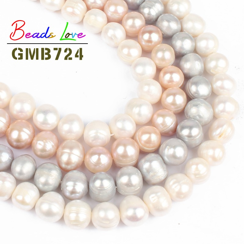 Beads Jewelry & Accessories 10pcs Natural Big Hole Oval Freshwater Pearl Pearls Beads For Jewelry Making Diy Necklace Bracelet Jewelry 8-9mm*10-11mm Various Styles