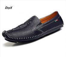Brand 2016 Fashion Men Flats Shoes Genuine Leather Slip On Men Loafers Casual Fashion Moccasins Driving Shoes Gommino