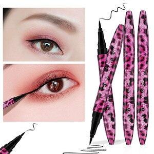 1 PC QIC maquillage rouge léopard Eyeliner Waterproof et anti-transpiration non florissant Eyeliner stylo à séchage rapide motif marbré épais noir