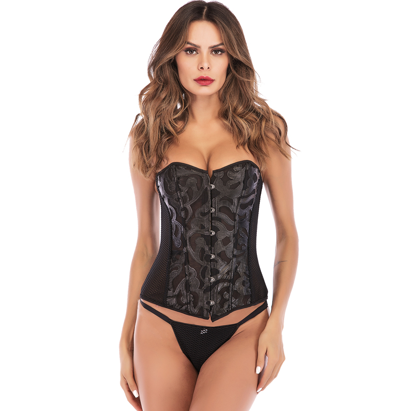 New Fashion Burlesque Steampunk   Corset   Gothic Waist Trainer Overbust   Corsets   and   Bustiers   Tops Gothic Body Shaper Slim