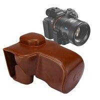 Puluz для Sony A7 II случае роскошный полный Для тела Камера искусственная кожа сумка с ремешком для Sony A7R II A7S II DSLR Камера Аксессуары