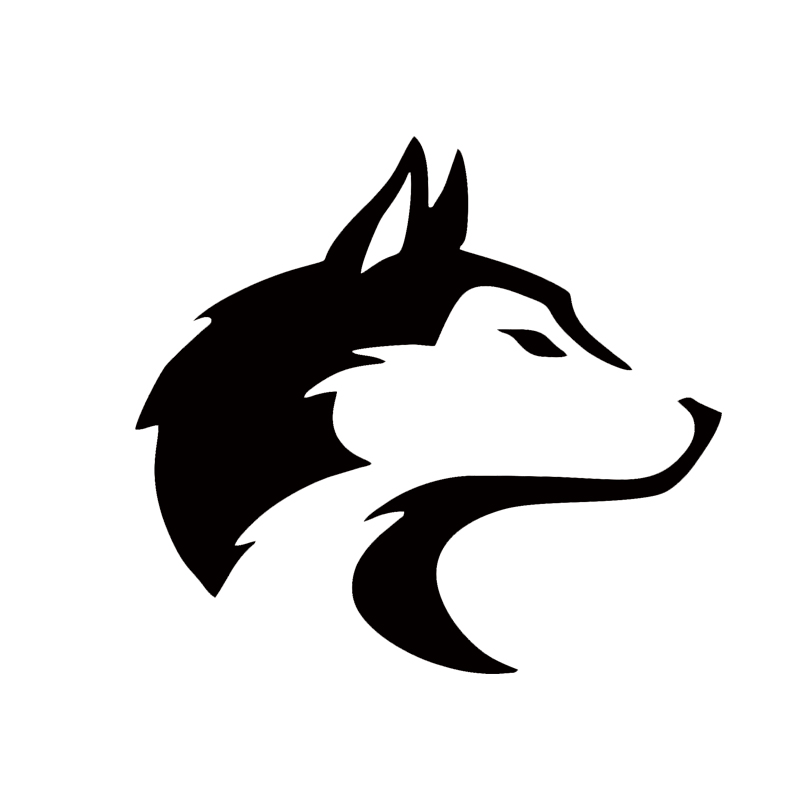 2017 Hot Sale Car Stying Pet Dog Sled Wolf Canine Coyote Snow Car Window Sticker Decal Jdm