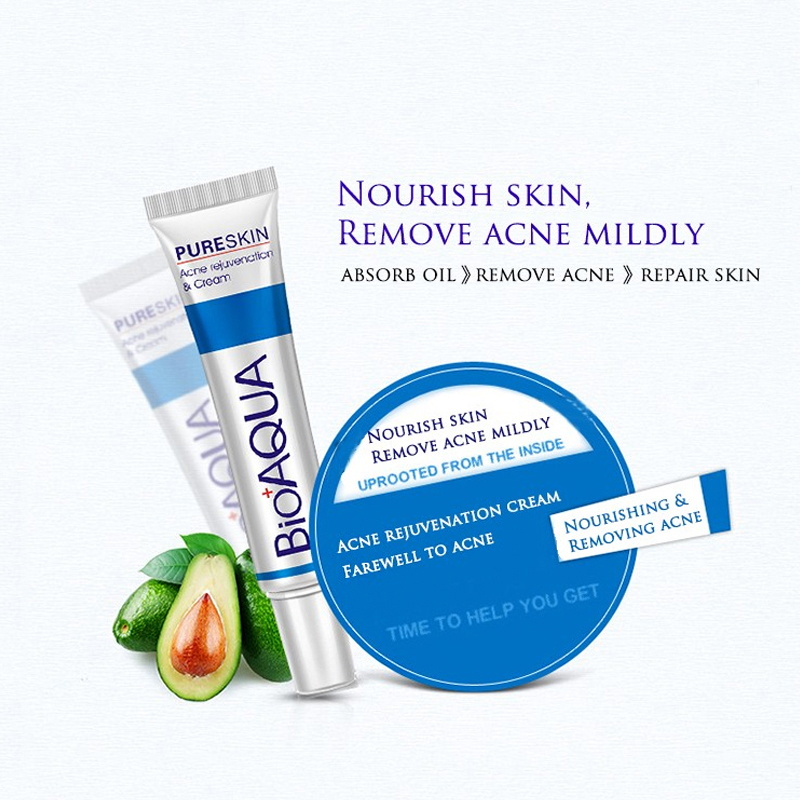 New face cream whitening skin care anti acne treatment cream oil control Moisturizing Acne Scar Remover Pores bioaqua acne cream 4