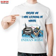 EATGE Indian Rose Water Diver Swimmer Fashion Cool T shirt Funny Design T Shirt Creative