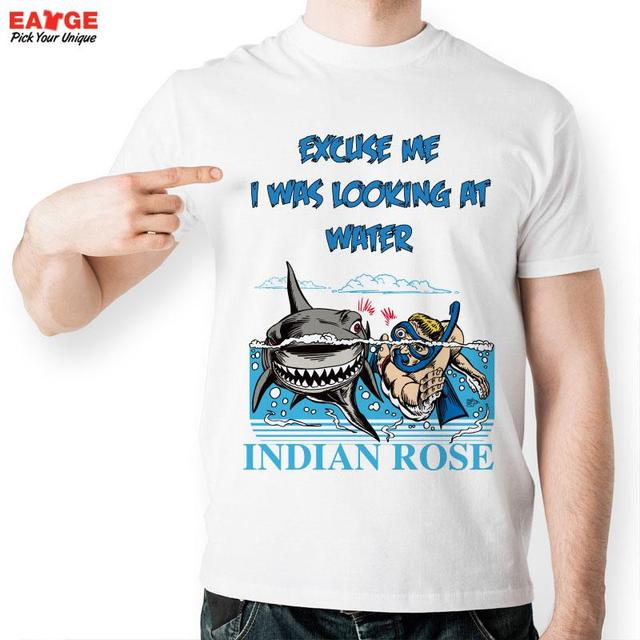 EATGE] Indian Rose Water Diver Swimmer Fashion Cool T shirt Funny ...