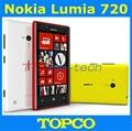 """Lumia 720 в исходном Nokia Lumia 720 двухъядерный 3 г WIFI GPS 6.1MP 4.3 """" IPS 8 ГБ памяти открыл Windows , мобильный телефон бесплатная доставка"""