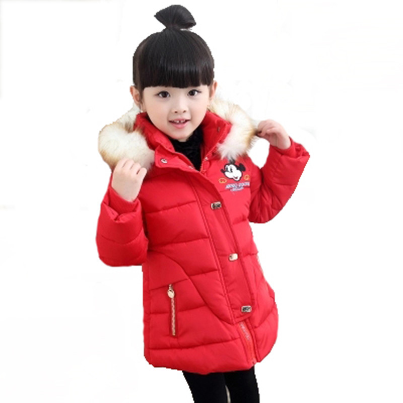 2016 New Fashion Children Winter Jacket Coat Minnie Mouse Cotton Jacket For Girl Thick Casual Children