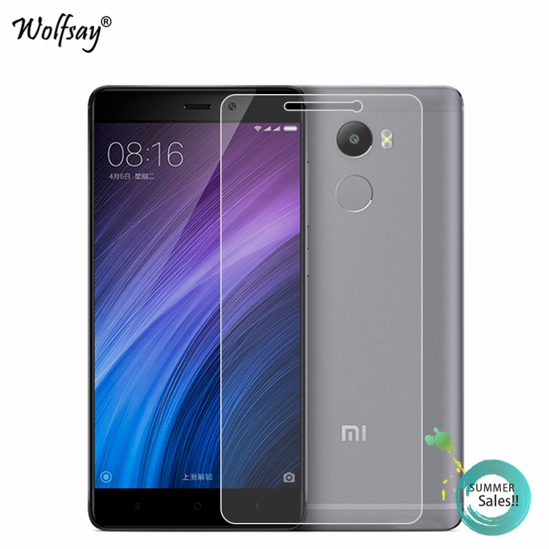 2pcs Screen Protector Glass Xiaomi Redmi 4 Pro Tempered Glass For Xiaomi Redmi 4 Pro Glass Redmi 4 Pro Protective Film Wolfsay