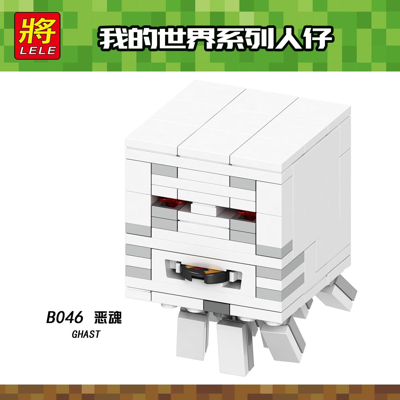 Minecraft Legoing Figures Zombie Creeper Cave Spider Building Blocks Legoings Minecrafte Toys Ghast Blaze Spider Jockey My world 1
