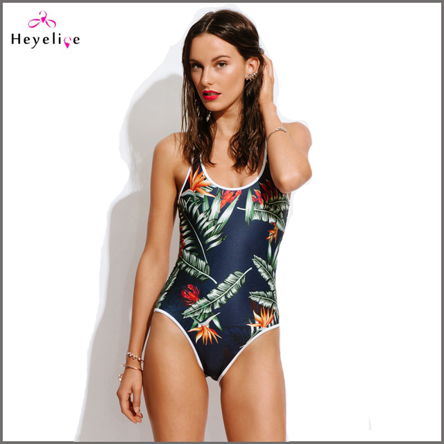 36180298f New Printing Swimsuits For Women Open Back Sexy One Piece Swimwear High Cut  Girls Bathing Suits