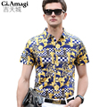 2016 Summer Brand New Shirts men Casual Turn-down Collar Shirts For Men Breathable Mercerized cotton M-3XL camisa masculina