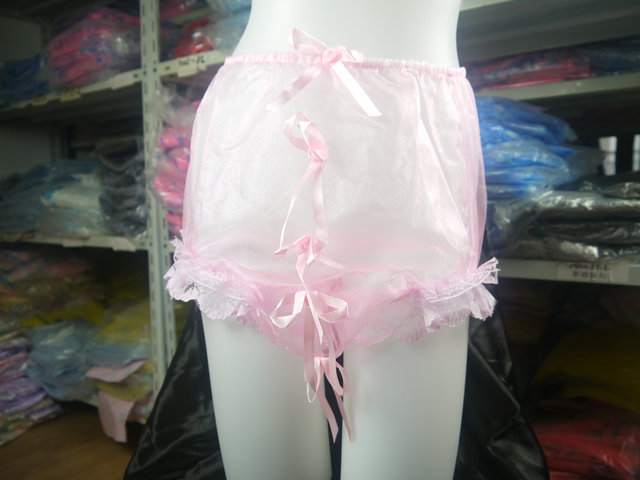 Bows Organza Sissy Panties Legs Are Trimmed With Pretty Lacesissy Dream Xf01 5