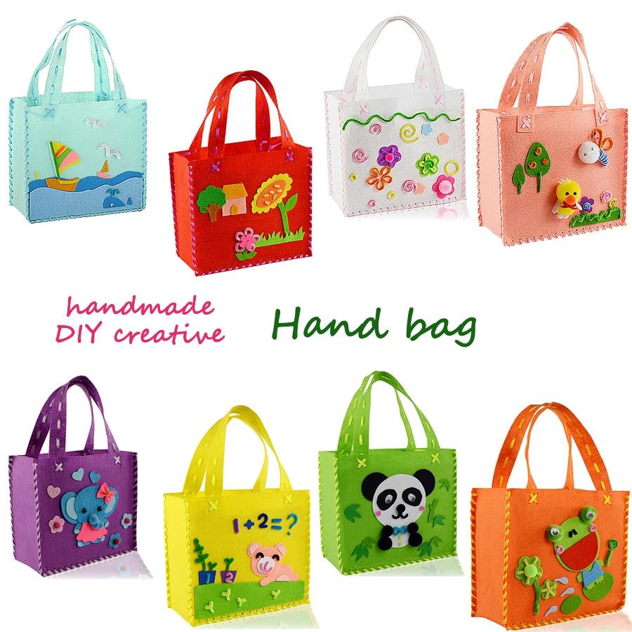DIY Non-woven Felt Fabric Handmade Sewing Kit For Kids Beginners Sewing Pattern Bag Handbag  Art & Crafts Educational Toys