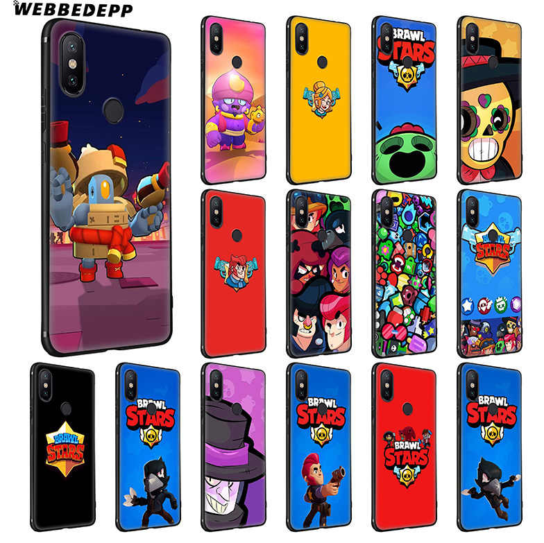 WEBBEDEPP Brawl Stars Soft Silicone Case for Xiaomi Redmi Note 7 6 6A 5 4 4X 4A 5 S2 Plus Pro Lite for Redmi Go