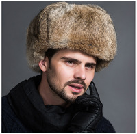 Fleece Warm Hat Winer Fur Cap Mens Headgear SWAT Tactical Hats Army Military Caps Hunting Hooded Gorras Thick Windproof Snow Hat