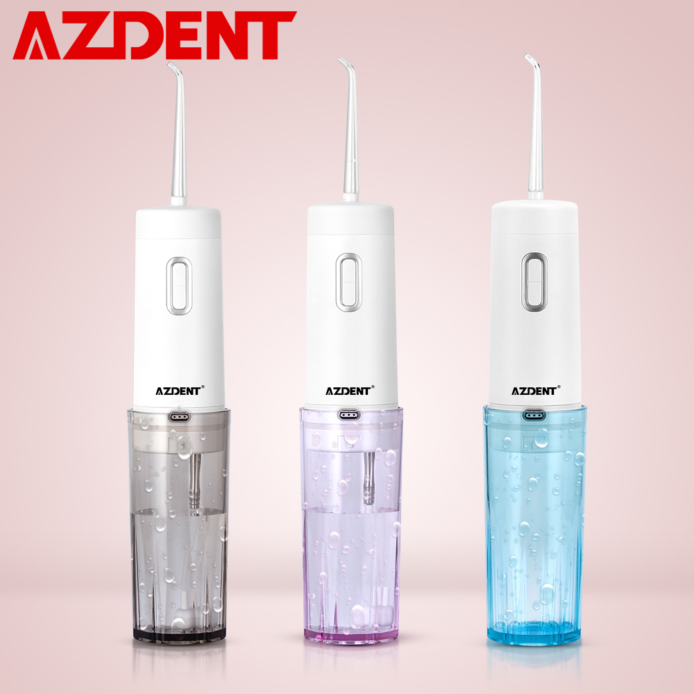 AZDENT Gen 2 Cordless Water Dental Flosser Foldable USB Portable Oral Water Irrigator Floss Rechargeable Tooth Pick 4 Mode 210ml