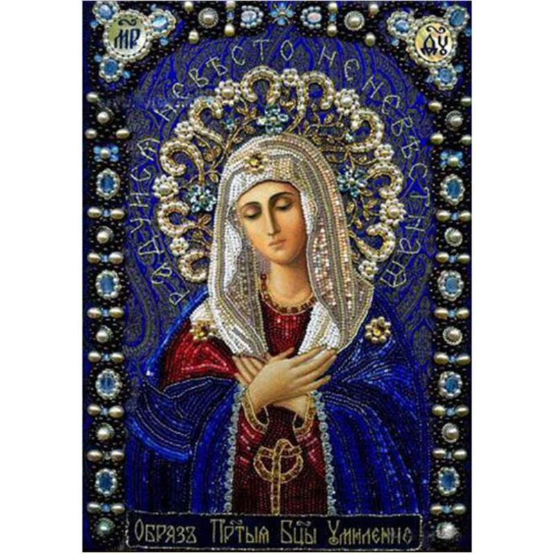 Hecho a mano 5D DIY Full Diamond Painting Icono religioso Decoración del hogar Diamond Bordado Classic Round Rhinestone Painting TF45