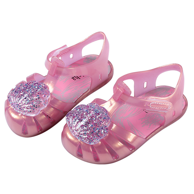 2019 Sequin Jelly Shoes Sandals Summer Children's Shoes Hot Sale Girls Sandals Baby Children Toddler Kids Sandals Beach Shoes