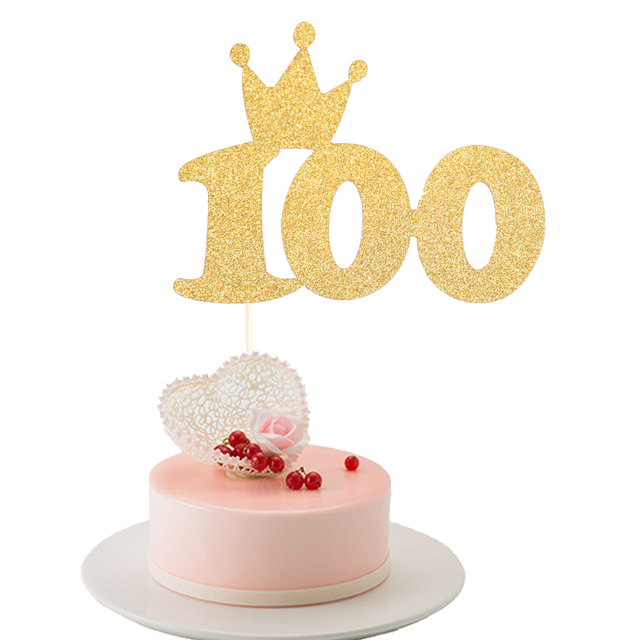1pc Birthday Cupcake Cake Topper Flags Baby Shower Kids Happy Gifts Christening 100 Days Party Decoration Supplies