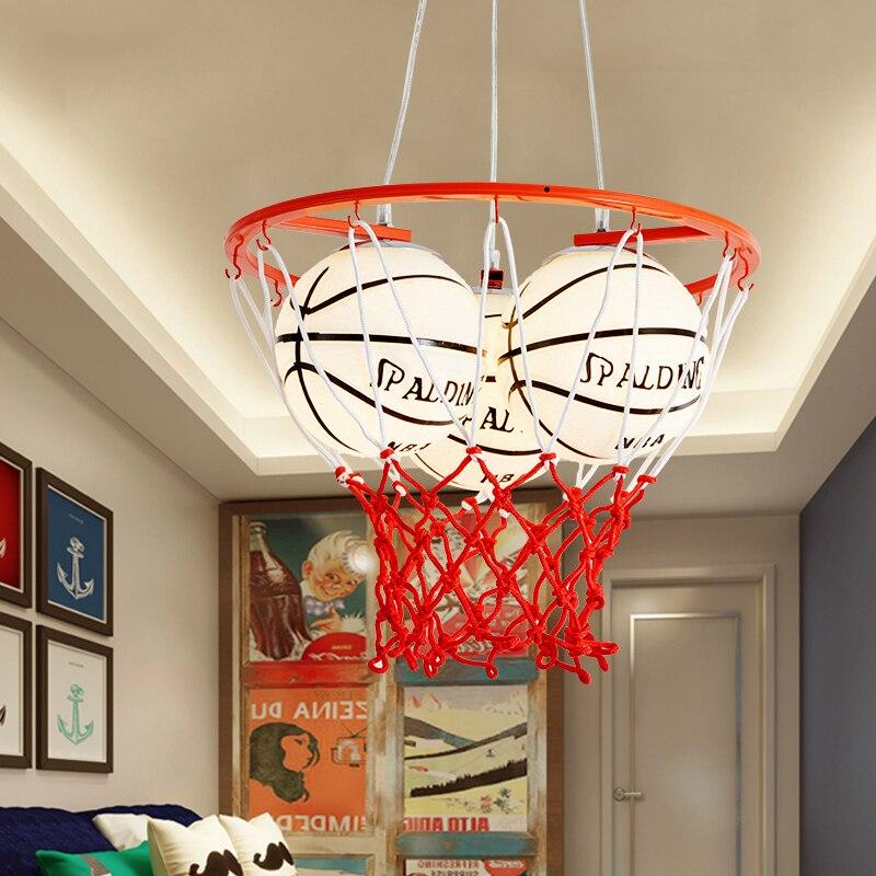 Moderne art déco basketball plafonniers créatifs enfants chambre lampe à LED garçon chambre plafonniers E27 économie d'énergie