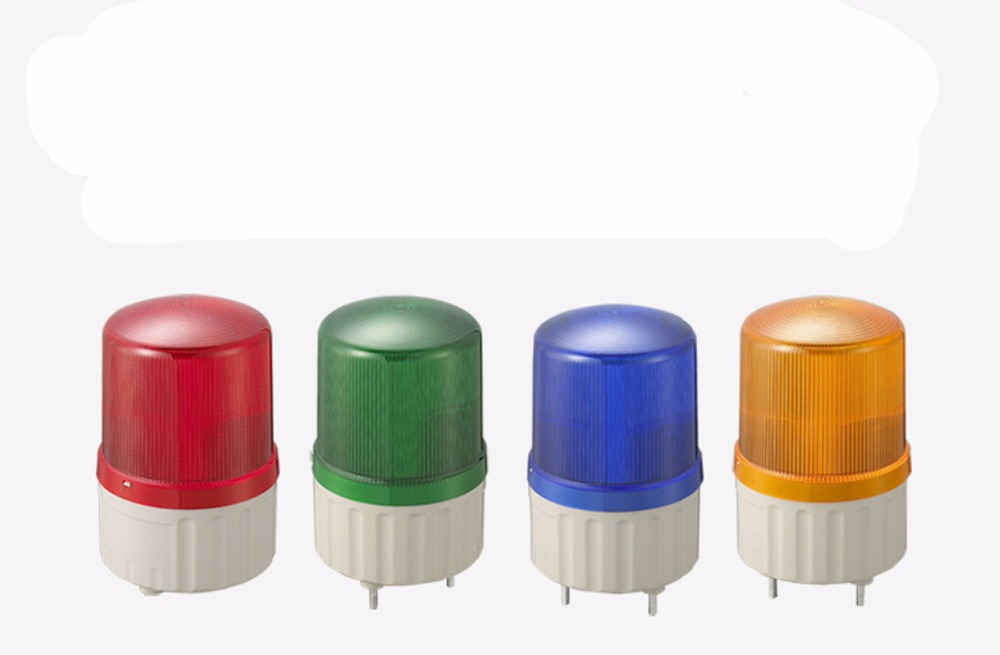 Red Yellow Blue Green Industrial LED Signal Lamp Beacon Alarm Warning Light Buzzer DC12V/24V AC110V/220V LTE/TB-1081(J)