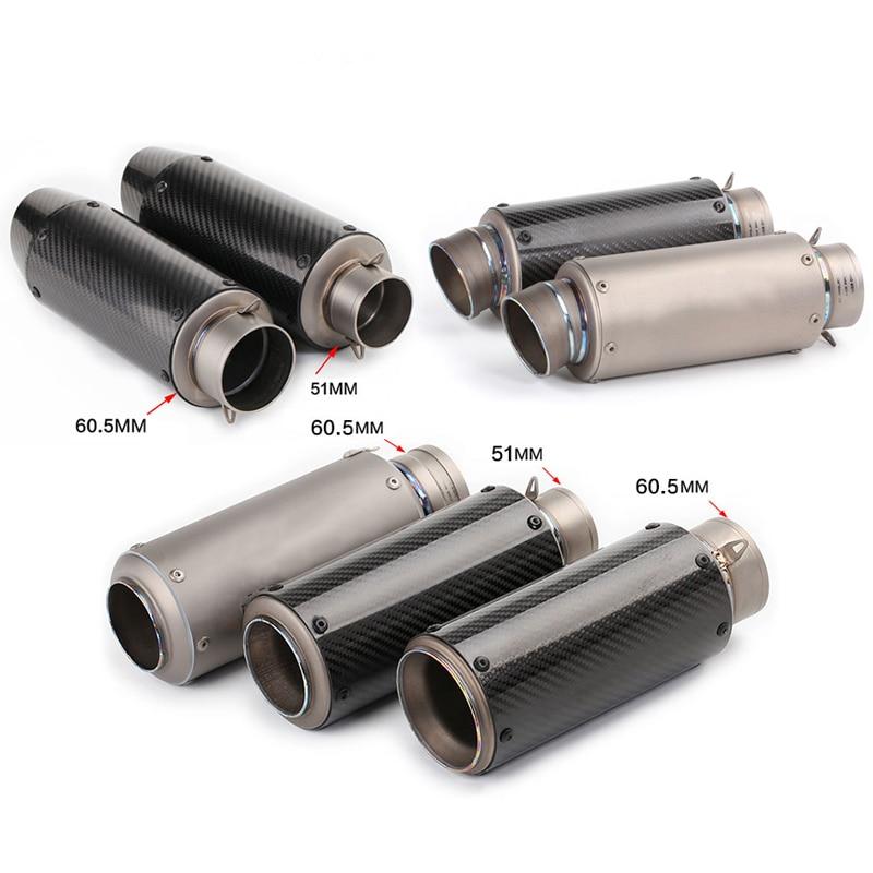 51mm 60 5mm Motorcycle Silencer System DB Killer Modified 235mm 275mm 285mm Carbon fiber Or titanium