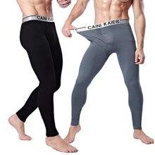 Для мужчин брюки теплые зимние Длинные белье плюс бархат Хлопок модал утолщение серебряный край Леггинсы для женщин
