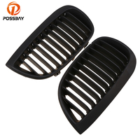 POSSBAY Matte Black Car Center Grilles for BMW 1 Series E87 118i/120d/120i/123d/130i 5 door 2007 2011 Facelift Side Grille Vents