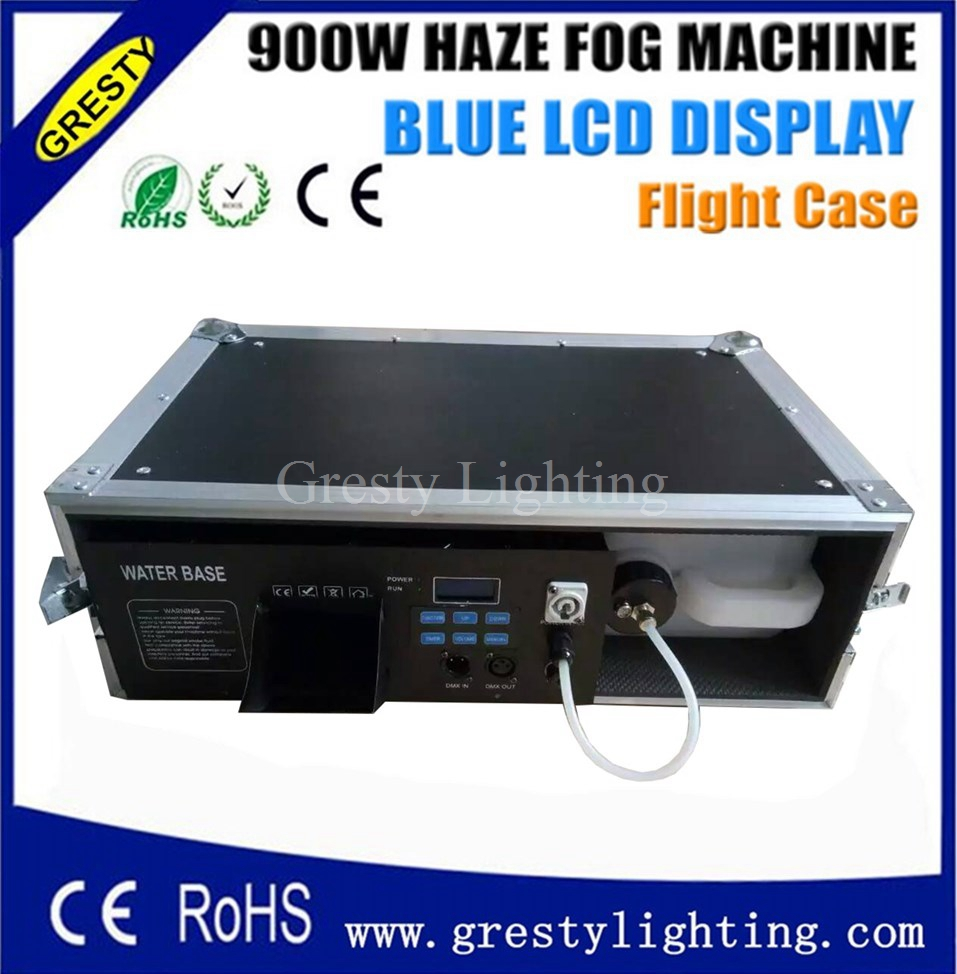 2pcs/lot flight case packing <font><b>stage</b></font> light equiment <font><b>stage</b></font> light effect <font><b>hazer</b></font> machine 900W smoke machine image