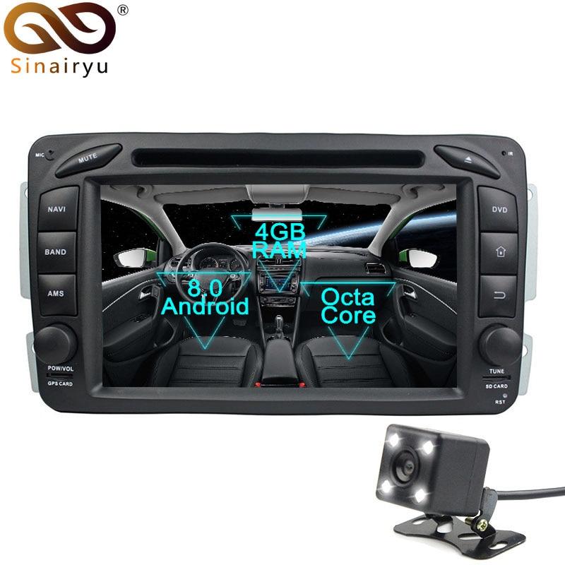 Sinairyu Android 8 0 Car DVD Player for Mercedes Benz ML W163 CLK W209 W203 W170