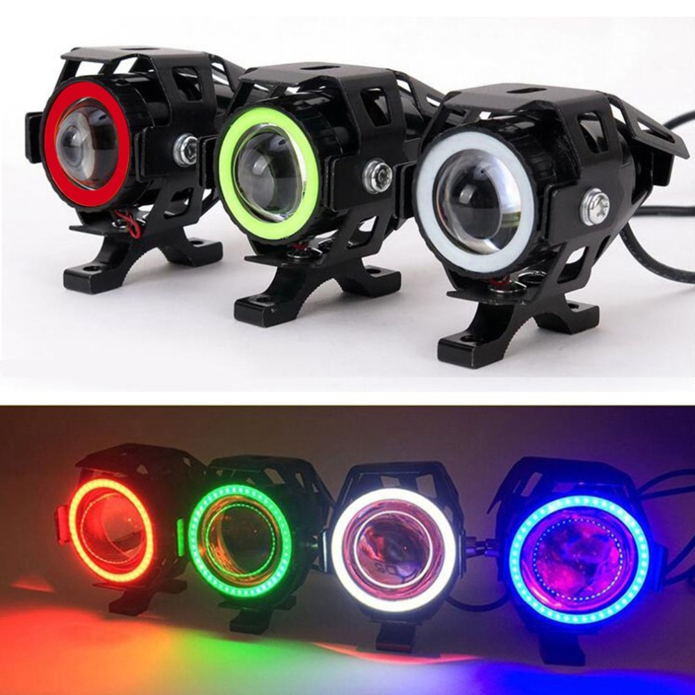U7 External Spotlight Motorcycle Laser Lights Waterproof Low Power Spotlights Light Adjustable Mode