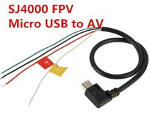 Micro USB zu AV Out Kabel für SJ4000 SJ5000 SJ6000 Kamera FPV Video Audio Sender Kabel AV(China)