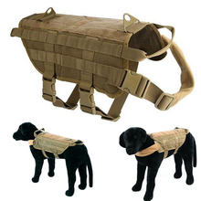 Military Army Dog Vest K9 Waterproof Tactical Hunting Training Service Harness Molle System