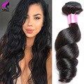 Перуанский Свободная Волна Вьющиеся Переплетения Человеческих Волос Связки Перуанский Девы Волос Свободная Волна 100 г/Bundle Свободные Вьющиеся Волосы расширения